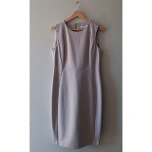 Calvin Klein Dresses - Calvin Klein tan cream heathered sheath dress